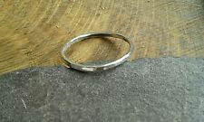 Handmade 925 Sterling Silver Fine Stacking Ring with hammered finish - All Sizes