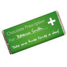 GET WELL SOON GIFT IDEA - Personalised Funny Chocolate Bar Fun Novelty Present