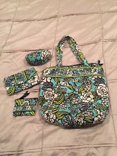 Lot Of 4 - Vera Bradley Tote Purse, Wallet, Coin Purse & Sunglass Holder