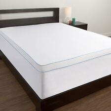 Comfort Memories Memory Foam Topper Cover Twin XL Back Pain Mattress Feather Bed