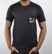 Doom Sayers Snake Hand Shake Skateboard Brand Pocket T-Shirt in Black & White
