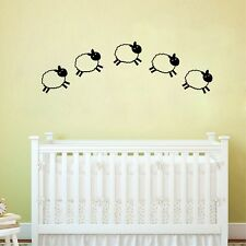 Cartoon Little Sheep Vinyl Wall Decals, DIY Baby Room Removable Sticker Decor