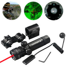 Tactical Red Dot Laser Sight Rifle Gun Mount Scope Rail & Remote Switch Hunting