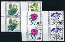 Bund 1059/62 Wohlfahrt 1980 - Blumen - Paare mit Rand - Versandstelle gestempelt