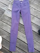 Joe's  skinny stretch purple  jeans size 24, made in the USA.