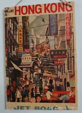 Jet Boac Hong Kong Orient Vintage Retro Advertising Travel Poster on Wood Sign