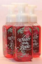 LOT 3 BATH & BODY WORKS WINTER CANDY APPLE GENTLE FOAMING HAND SOAP 8.75 OZ WASH