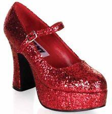 "Funtasma 4"" Red Glitter Chunky MARY JANE Platform Pump Dorothy Costumes Size 6"