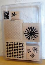 2006 Stampin Up LOOKS LIKE SPRING 6 pc RUBBER INK STAMP SET