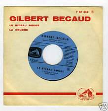 45 RPM SP JUKE BOX GILBERT BECAUD LE RIDEAU ROUGE
