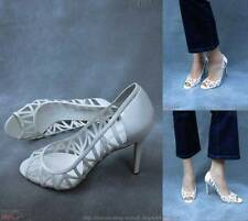 NEW$95 ENZO ANGIOLINI White Patent Lk Strappy Leather Shoes 10M  EAMIXX -- FLAW