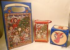 VINTAGE 12 DAYS OF CHRISTMAS GIFT BAG + 2 GIFT BOXES Shackman GET FREE GIFT!