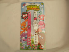 Moshi Monsters Charm Watch Set Pink & White Straps Interchangeable Charms