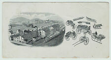 RARE Advertising Trade Card  Children's Wagons Velocipedes 1880 Bainbridge NY