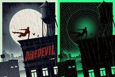 Matt Ferguson Daredevil Glow in the Dark Poster Print Spider-Man Artist