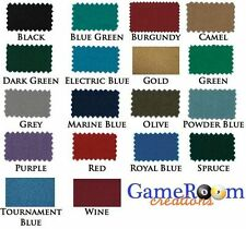 New Worsted Pool Table Cloth 8ft Table - Fast Billiard Felt w/ PRE-CUT RAILS