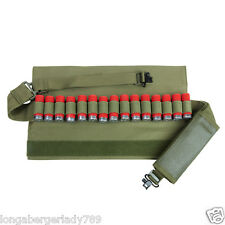 PADDED SHOTGUN BANDOLIER COVERED STRAP SLING WITH QUICK RELEASE SWIVELS GREEN