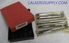 New! 5 PIECE 1/4-20 SPIRAL POINT TAP - HIGH SPEED STEEL- MADE IN INDIA.
