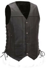 GUN CONCEALMENT LEATHER MOTORCYCLE VEST XXXXL harley sportster warrior road fxr