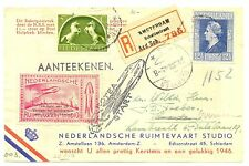 NEDERLAND 1945-12-21  REG RAKETPOST SPEC LABEL -POSTMARK  ALMOST  VF