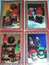 SET OF FOUR RUSS TROLL DOLL CHRISTMAS CARDS -  New - RARE