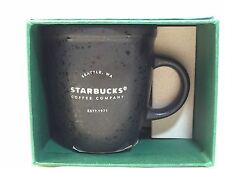 2016 Starbucks Coffee Black Speckled 3 OZ Ceramic Espresso Mug New Collectible