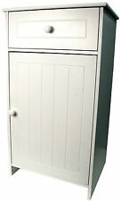 Bathroom Cabinet White Wooden Storage With Drawer Freestanding Unit