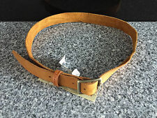 BNWT Ladies Size Large Tan Textured Genuine Leather Rivers Brand Belt RRP $35