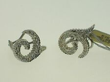 DORIS PANOS 18K WHITE GOLD 0.95CTW DIAMONDS EARRINGS - NEW - RETAIL $4,500.00!!!