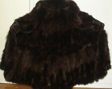 "NEW 50"" Long Brown Fox 105"" Swing Fur Coat Size 16-18 Free Shipping"