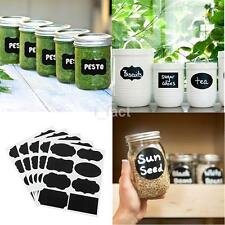 40x Chalkboard Blackboard Stickers Lab Kitchen Jar Labels PVC Waterproof Tags UK