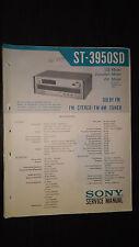 Sony st-3950sd Service Manual schematic Original repair book stereo tuner radio