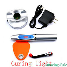 LED Cure Curing Light Silver Dental Wireless Cordless 1500mw Tool for Dentist fx