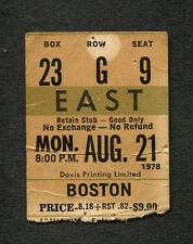 1978 Boston Concert Ticket Stub Toronto Maple Leaf Gardens Don't Look Back