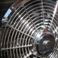 16 Inch Chrome Electric Radiator Cooling Fan 12v 3000 CFM