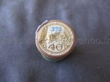 R225 Mercerie vintage ancienne bobine BOIS fil à coudre ALSA 320 DMC vert 40 73m