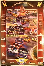 """1995 Road to The Winston Cup Napa 500 23 x 34"""" Poster Nascar"""