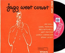 "vvaa JAZZ WEST COAST PART FOUR 7""EP orig Italy Jim Hall Art Pepper"