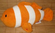 Ty Pluffies Gilly Clownfish Orange & White Plush Baby Lovey Toy 2007 Clown Fish