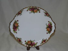 Vintage Royal Albert Old Country Roses Handled Cake Plate
