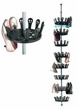 Telescopic Shoe Carousel Rack Storage Shoe Tree Rack Stand Shoes Organizer