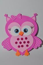 """6"""" Cute Baby Shower Owl Pink foam for decoration-Girl 10 pcs-"""