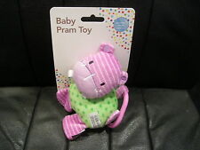 LE JOU JOU - BABY PRAM TOY RATTLE - HIPPO - SUITABLE FROM BIRTH - BNOP