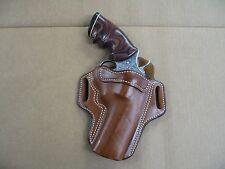 """Ruger GP100 Revolver 4"""" Barrel Leather 2 Slot Pancake Belt Holster CCW TAN RH"""