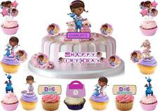 Doc McStuffins Edible Birthday Scene Cup Cake Scene Toppers STAND UP CUSTOM