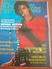 HOT PRESS magazine Oct 1987  Michael Jackson cover and 3 pages 16x12 inches