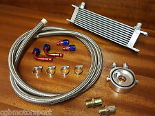 FORD OIL COOLER KIT SANDWICH BRAIDED STAINLESS STEEL HOSES M20 3/4 16 2M