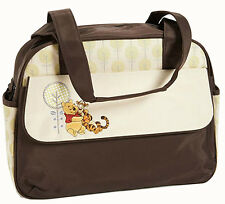 Disney Winnie Pooh Baby Tote School Diaper Bag - Travel Brown Nappy Bottle bag