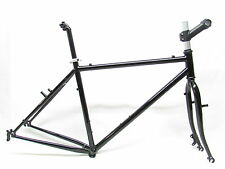 RSP RALEIGH TOURING FRAMESET 4130 ALL CROMOLY D/BUTTED + CROMOLY DISC FORK NEW
