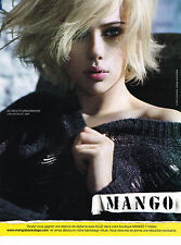PUBLICITE ADVERTISING 104  2009  MANGO  mode pret à porter SCARLETT JOHANSSON